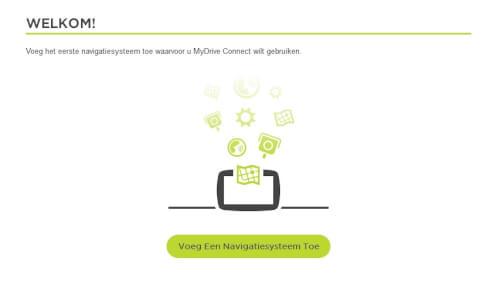 Mydrive account aanmaken navigatie toevoegen
