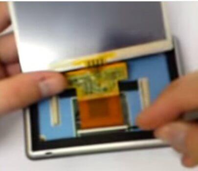 LCD scherm losmaken