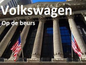 Volkswagen op de beurs daling
