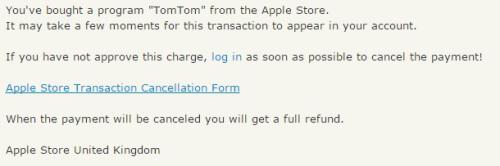 Apple oplichting TomTom pishing