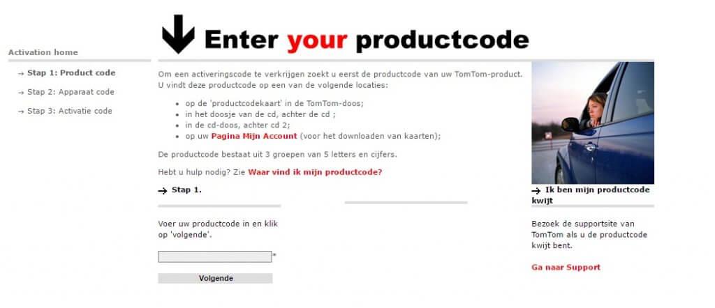 activatiecode - productcode - apparaatcode