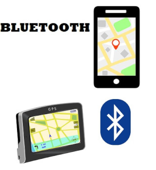 bluetooth connectie gps en smartphone