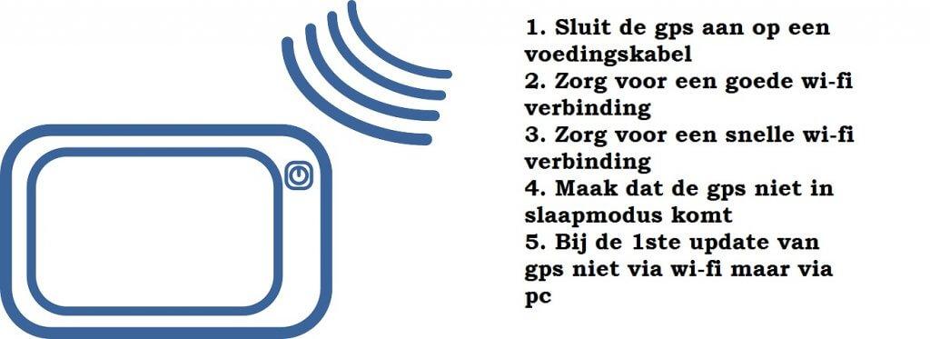 Tips voor het updaten van uw navigatietoestel met wi-fi