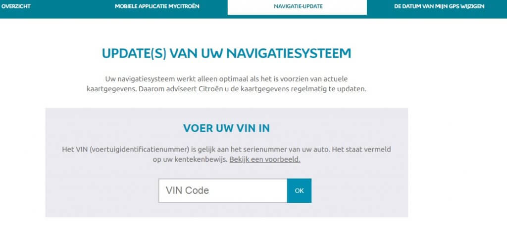 Connect NAV C4 Picasso update