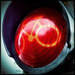 fietsers en rood licht