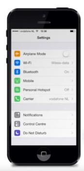 bluetooth connectie smartphone opzetten
