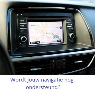 navigatie wordt niet meer ondersteund