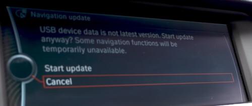 Ingebouwde navigatie update BMW