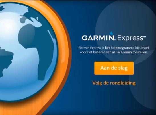 Aan de slag met Garmin Express
