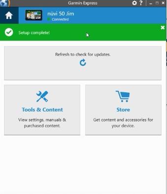 Automatische check updates Garmin